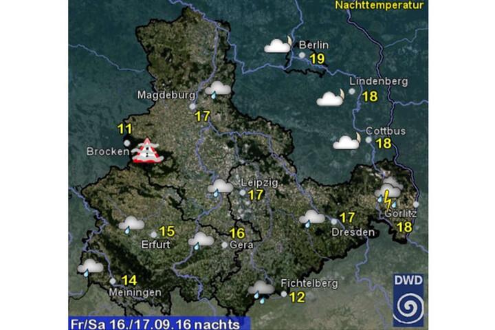 In der Nacht zu Sonnabend wird es in Sachsen besonders ungemütlich.