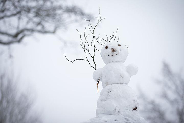 Für Schneemänner wird der Schneeregen wohl nicht mehr reichen.