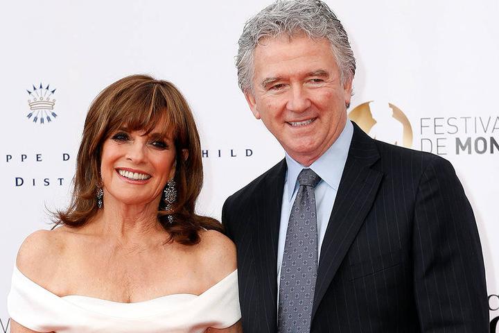 """Linda Grey alias Sue Ellen Ewing und Patrick Duffy 2012 bei der Neuauflage von """"Dallas""""."""