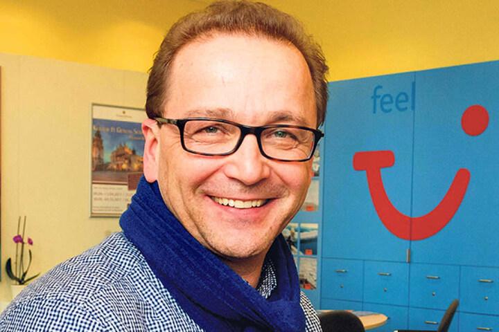 Thomas Oczadly (51) vertritt 45 inhabergeführte Dresdner Reisebüros.