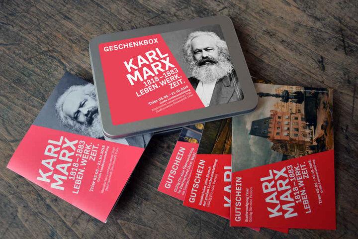 In Trier gibt es sogar eine Karl-Marx-Geschenkbox.