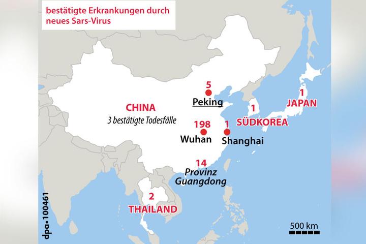 Mehr Tote durch Lungenkrankheit in China