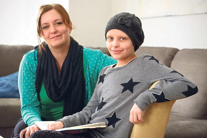 Stefanie Schönau (30) mit ihrer Tochter Letizia (11). Beide hoffen, dass sie  bald wieder schnell gesund wird.