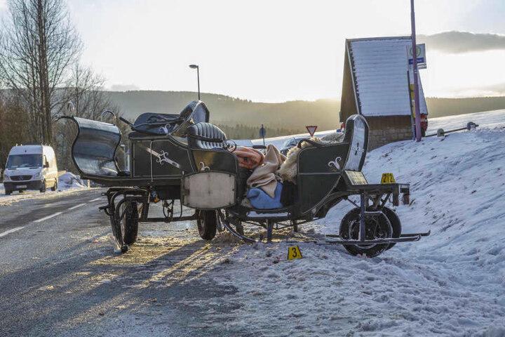 Bei dem schrecklichen Schlittenunfall starb auch Jürgen Försters Ehefrau, zwei weitere Fahrgäste und der Kutscher wurden verletzt.