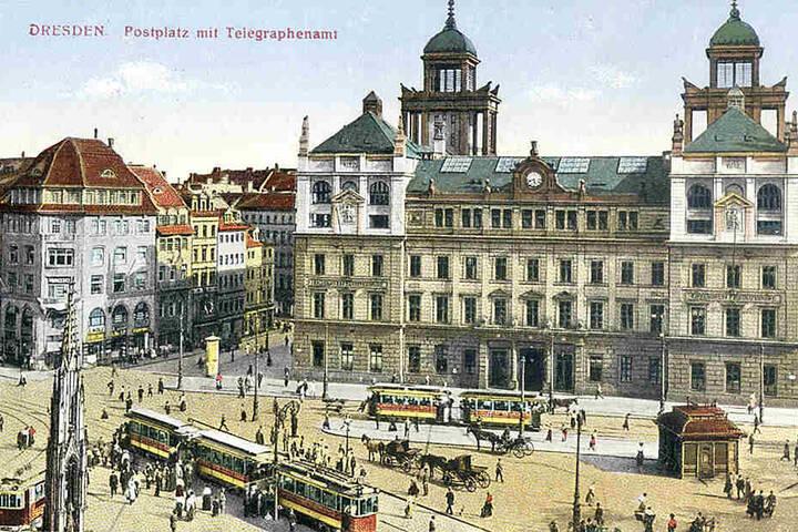 Im Krieg zerstört: Das kaiserliche Fernsprechamt am Postplatz (1830-32 erbaut).