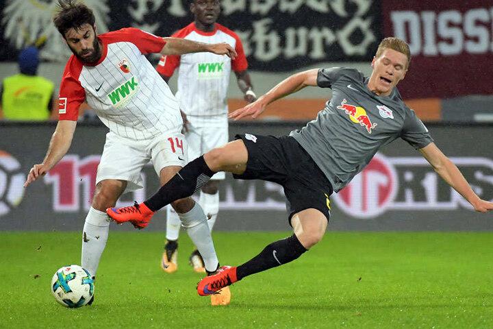 Die Roten Bullen mussten sich in Augsburg geschlagen geben.