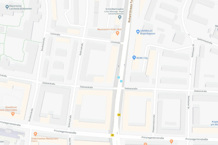 Der Unfall ereignete sich in der Richard-Strauss-Straße Ecke Zaubzerstraße.
