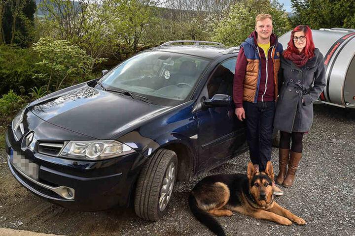 Schäferhund Henry, Steve I. (25) und Freundin Claudi  N. (28) stellten einen Autoknacker.