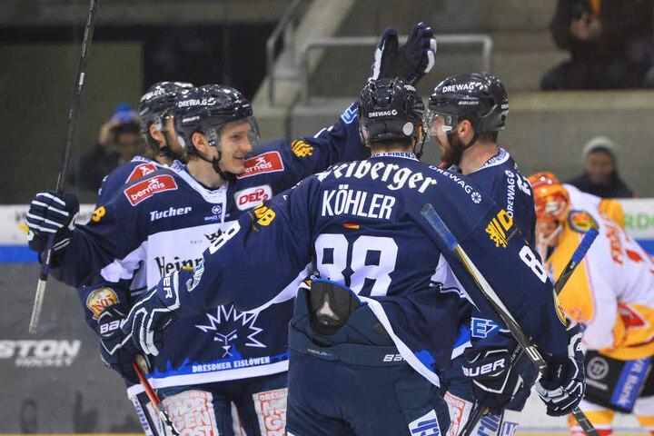Fünfmal durften die Dresdner und ihre Fans jubeln.