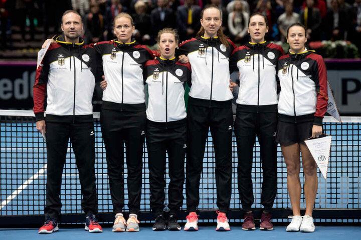 Petkovic beim Fed Cup im Februar gegen Weißrussland.