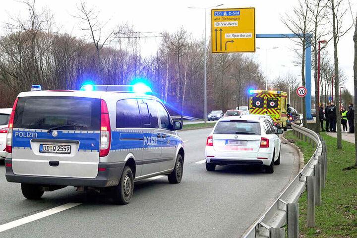 Polizei und Rettungdienst waren vor Ort im Einsatz.