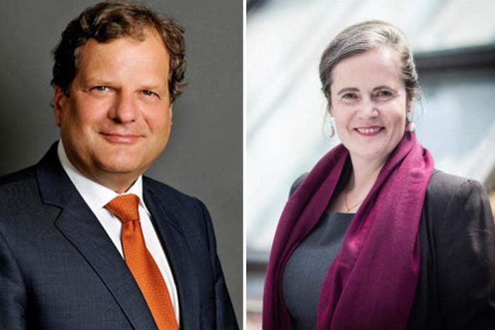 In einem Gespräch mit dem Elternrat der Schule soll Leipzigs Bildungsbürgermeister Prof. Dr. Thomas Fabian (62, l.) gesagt haben, Gymnasien seien der Stadt wichtiger. Die SER-Vorsitzende Petra Elias (47, r.) ist erschüttert über diese Aussage.