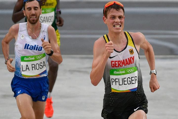 Philipp Pflieger (r) bei den Olympischen Spielen in Rio 2016.