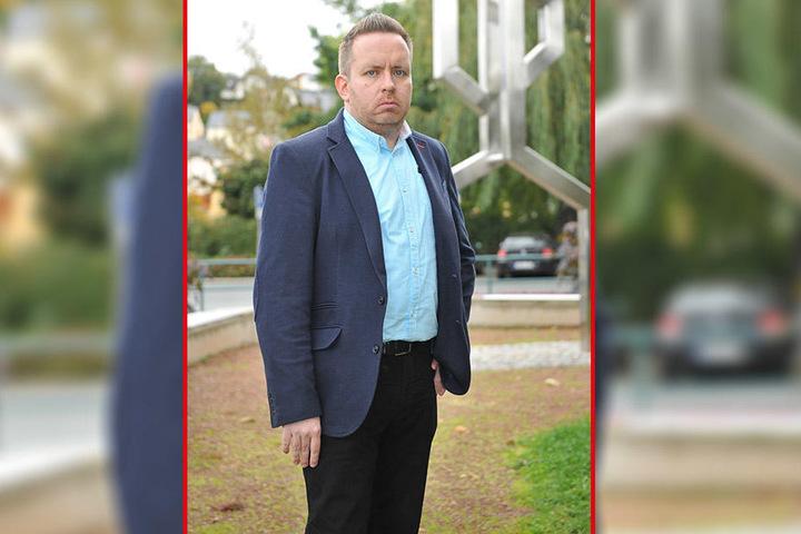 Aues Stadtrat Tobias Andrä stellte Strafanzeige gegen Sören Storks.