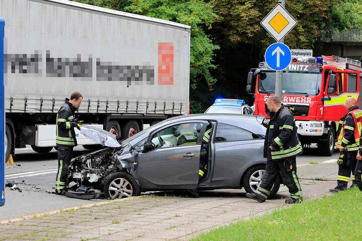 Der Unfall ereignete sich auf der Reichsstraße am Stephanplatz