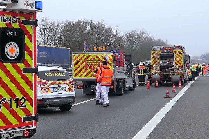 Die A5 wurde bis 13.30 in Richtung Heidelberg voll gesperrt.