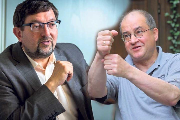 Die beiden CDU-Politiker Andreas Lämmel (59, l.) und Arnold Vaatz (60) luden seinerzeit zu einem umstrittenen Diskussionsabend.