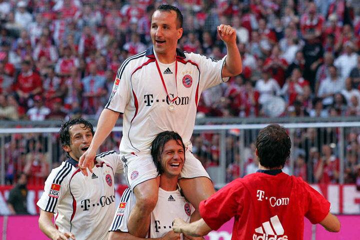 Siegerpose: Mit den Bayern feierte Jeremies 2006 die Meisterschaft.