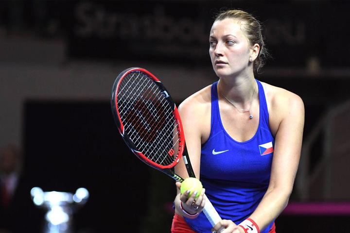 Der tschechische Tennisstar wurde von dem Angreifer schwer verletzt.