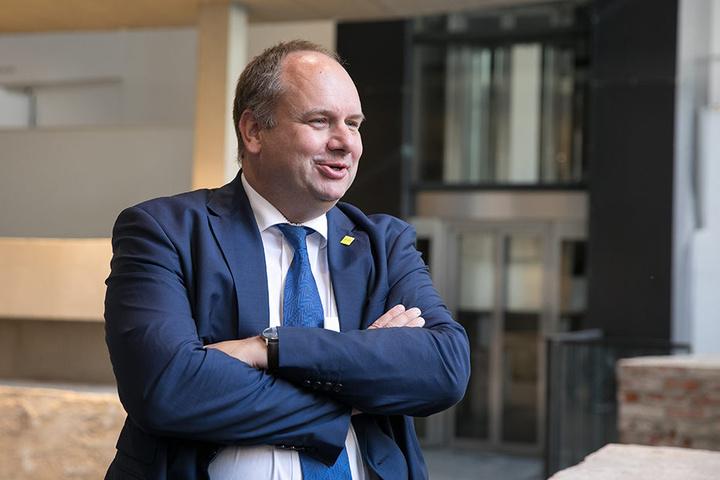 Dresdens Oberbürgermeister Dirk Hilbert (45, FDP) unterstützt die Macher der  geplanten Sportveranstaltung.