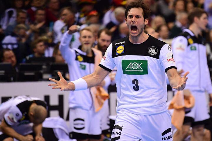 Gensheimer im Halbfinale gegen Norwegen.