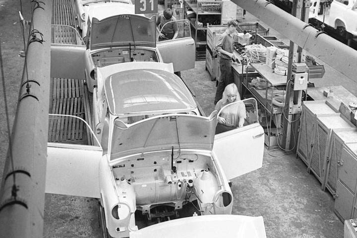 Im Original wurde der Trabant in Zwickau mit einem Zweitaktmotor  produziert.