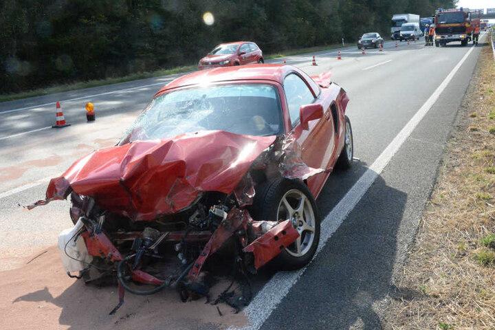 Der Toyota erlitt Totalschaden.