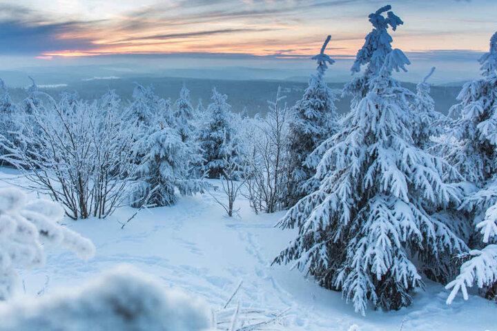 Auf dem Fichtelberg war es vergangene Nacht mit Minus 19 Grad am kältesten.