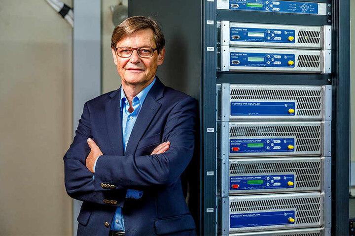 Auch PSR-Chef Friedrich A. Menze kämpft für seinen Sender.