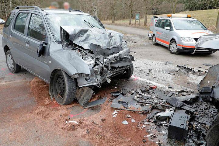 Der Fahrer des Suzuki verstarb im Krankenhaus an seinen Verletzungen.