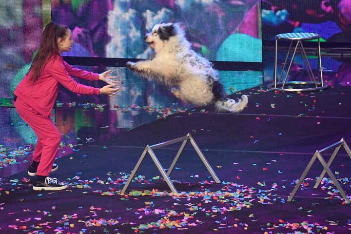 Egal ob Hürdenlauf oder Saltos, Alexas Hunde verhalfen ihr am Samstagabend zum Sieg.
