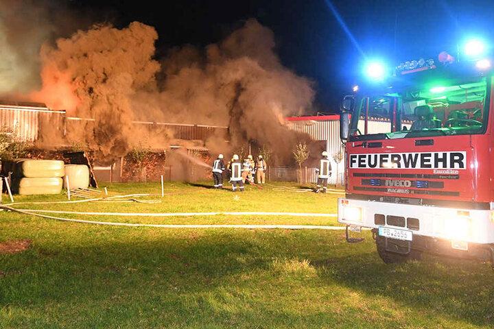 Die Feuerwehr musste von allen Seiten den Brand bekämpfen, um die Kontrolle zu erlangen.