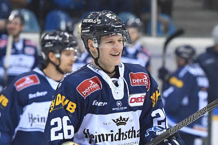 Hat Grafenthin auch am Freitag im Heimspiel gegen die Freiburger Wölfe gut lachen?