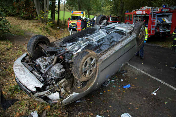 Tödlicher Unfall bei Reinsberg: In diesem Skoda starb der Fahrer (87).
