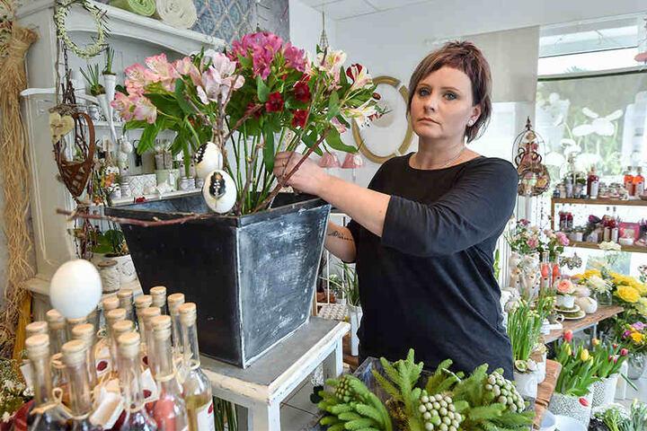 Sammelt für die Familie: Blumenhändlerin Anett Gräbner (41).