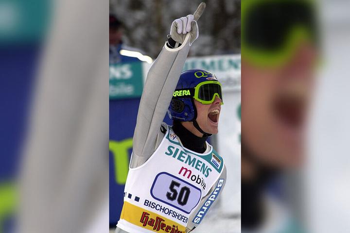 Der Höhepunkt seiner Karriere: Sven Hannawald als Sieger der Vierschanzentournee.