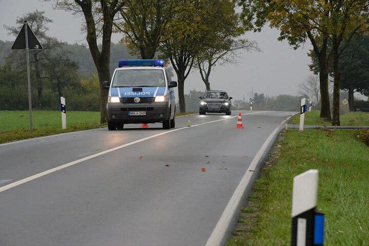 Die Langenberger Straße war in beide Fahrtrichtungen gesperrt.