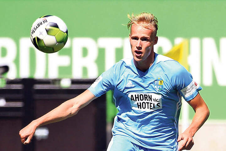 Tom Scheffel hofft, dass er auch am Sonntag im Sachsenpokal bei Lok Zwickau zum Einsatz kommt.