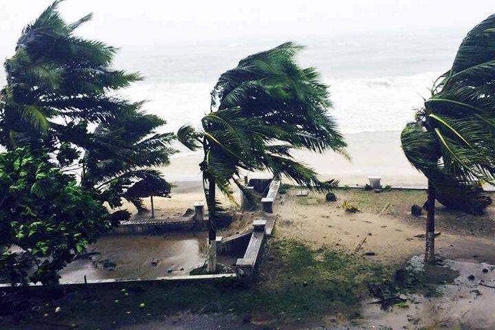 Mit Windstärken über 230 km/h fegte der Sturm über Madagaskar.