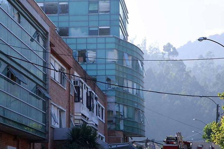 Die Klinik wurde bei der Explosion schwer beschädigt.