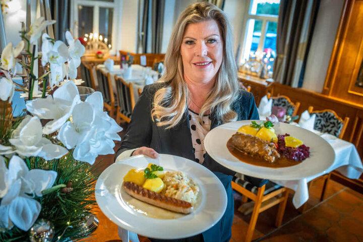 Ob Thüringer Bratwurst oder Sächsische Roulade - Hotelchefin Tessa Barth (51) tischt den Gästen landesübliche Speisen auf.