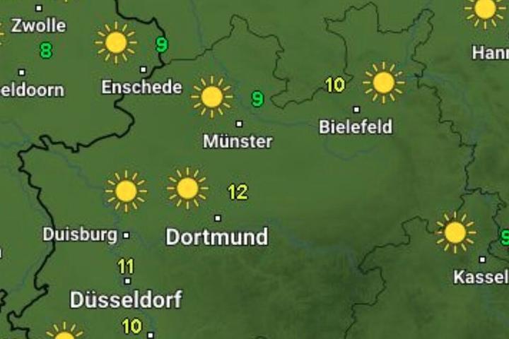 Am Wochenende wird überall in der Region die Sonne scheinen.