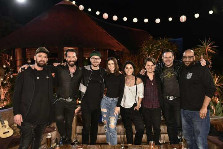 Die Crew der vergangenen Staffel: v.l Gentleman, Alec Völkel, Mark Forster, Lena, Stefanie Kloß, Michael Patrick Kelly, Sascha Vollmer und Moses Pelham.
