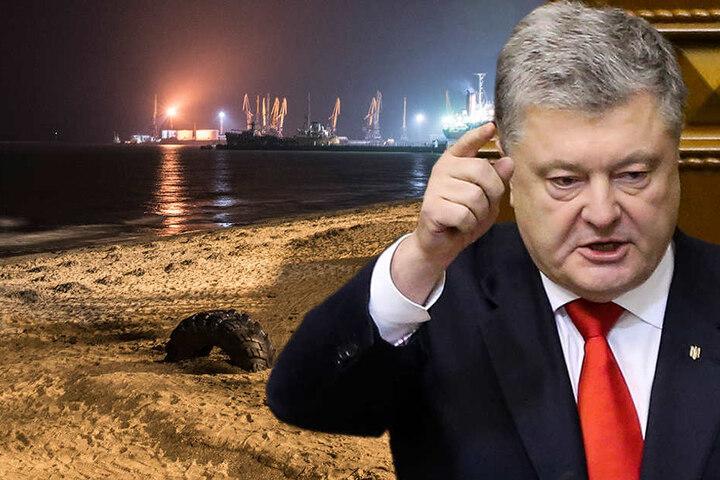 Petro Poroschenko, Präsident der Ukraine. Angesichts des Konflikts mit Russland im Asowschen Meer hat Poroschenko das Kriegsrecht verhängt.