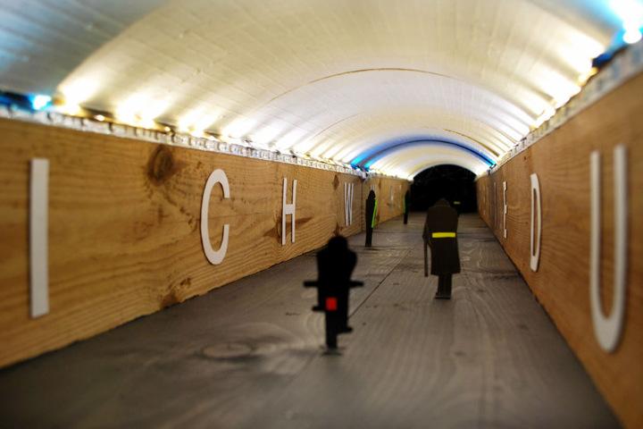 """So soll der Tunnel aussehen: """"Abwechselnd warmes und kaltes Licht soll eine optische Verkürzung erzeugen"""", so Anke Neumann."""