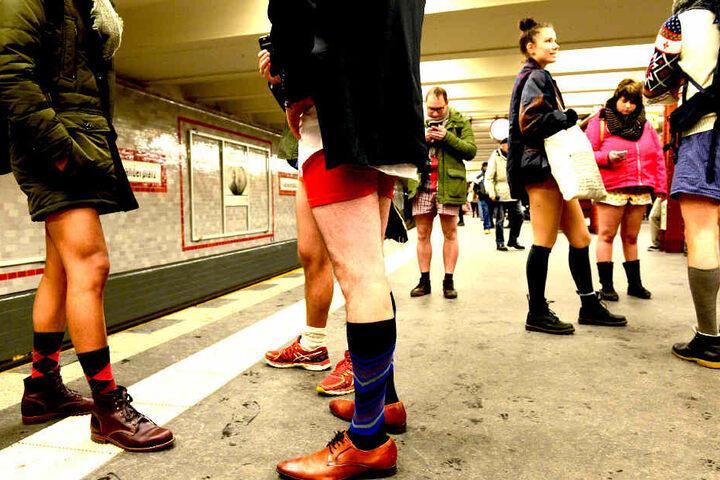 No Pants Subway Ride in Berlin.