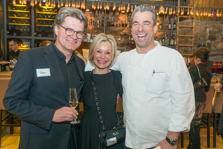 TV-Moderator Peter Escher kam mit seiner Frau Ulrike zur 2. Küchenparty  nach Dresden.