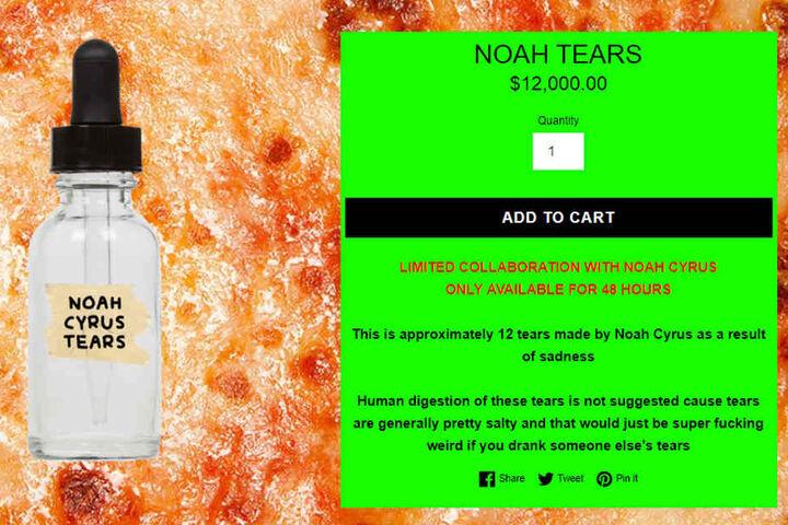 Kein Schnäppchen: Die Tränen von Noah Cyrus haben ihren Preis.