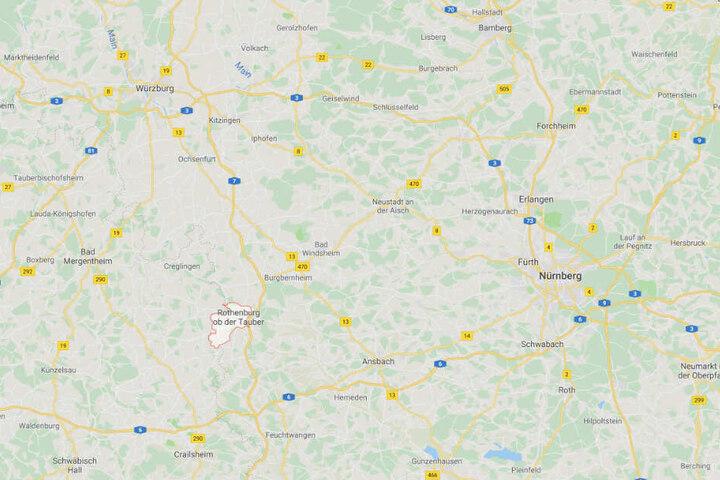 Der tödliche Unfall ereignete sich bei Rothenburg ob der Tauber in Mittelfranken.