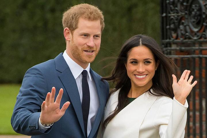 Der britische Prinz Harry und seine Verlobte Meghan Markle.